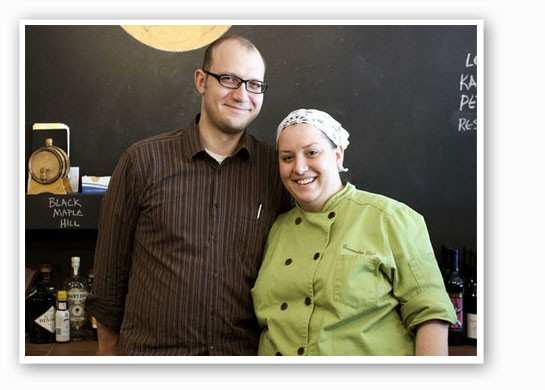 Josh Renbarger and Cassy Vires at Home Wine Kitchen. | Jennifer Silverberg