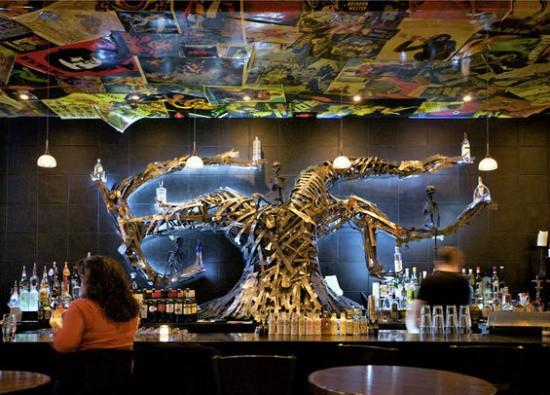 The bar inside Sanctuaria. - JENNIFER SILVERBERG