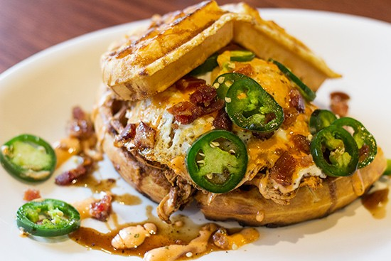 WildSmoke's Hot'Lanta Chicken & Waffles. - PHOTOS BY MABEL SUEN