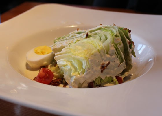 The wedge salad. | Nancy Stiles