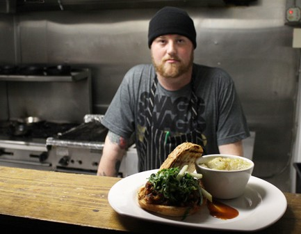 Executive chef Jimmy Hippchen in the Crow's Nest kitchen - MABEL SUEN