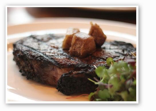 Prime rib topped with fried bone marrow. | Nancy Stiles