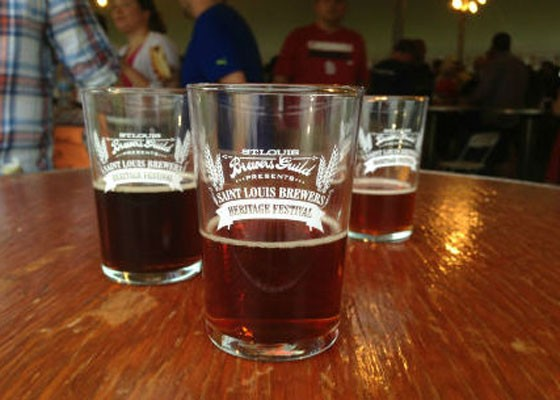 Sampling glasses from last year's Brewers Guild Heritage Festival. | Pat Kohm