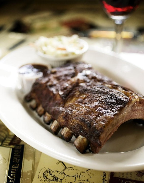 Baby-back ribs, a special at the Piccadilly at Manhattan - JENNIFER SILVERBERG