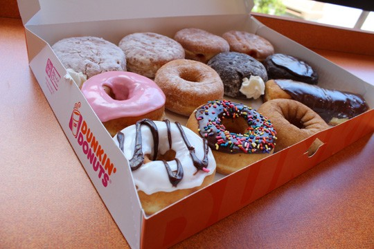 An assorted dozen from Dunkin' Donuts - MABEL SUEN