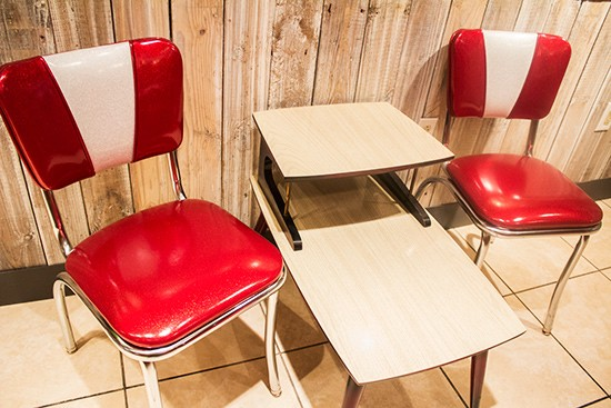 Grab a seat to dine in or take your pie to go.
