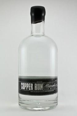 Copper Run Distillery un-aged corn whiskey moonshine. - IMAGE VIA