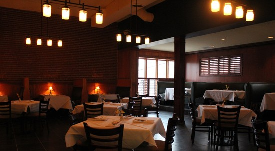 The dining room at Root before dinner service. - MABEL SUEN