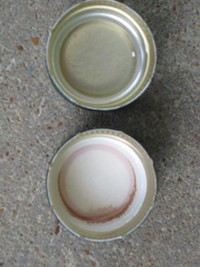 Screwcaps, with foil liner (top) and saranex liner (bottom) - DAVE NELSON