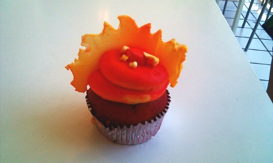 "The ""Island in the Sun"" cupcake from Jilly's. - AMANDA WOYTUS"