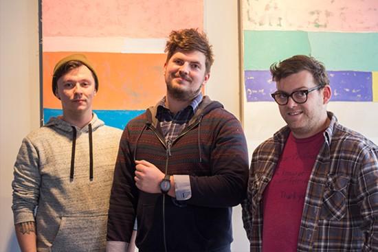 Jordan Howe, Chris Phillips and Nate Larson of Living Room.