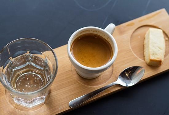 Espresso service at Living Room. | Photos by Mabel Suen