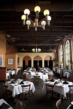 The Harry's dining room, before people start cuttin' a rug on it. - LAURA ANN MILLER