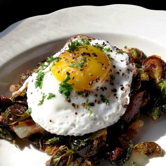 Fried Brussels sprouts salad at Planter's House | Bradley Hoffman