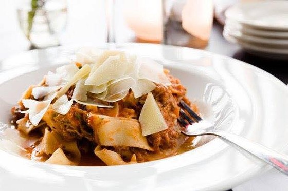 Wild boar pappardelle at Katie's Pizza and Pasta.   Jonathan Pollack