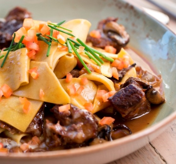 Short-rib pappardelle pasta at Cucina Pazzo. | OG Hospitality Group