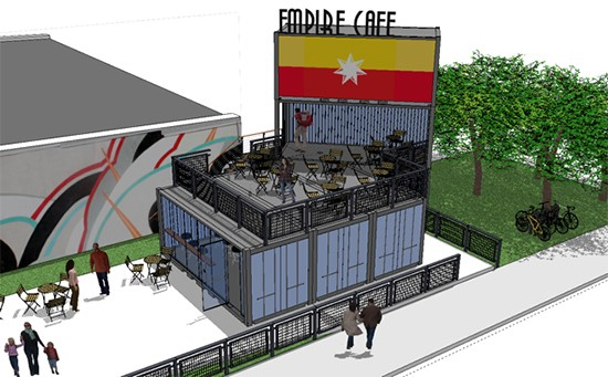 An artist rendering of Empire Cafe. - KILLEEN STUDIO ARCHITECTS