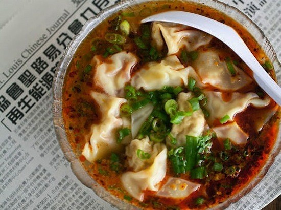 The spicy wonton soup at Famous Szechuan Pavilion | Jennifer Silverberg