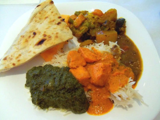 A plate from House of India's all-you-can-eat buffet - EMILY WASSERMAN
