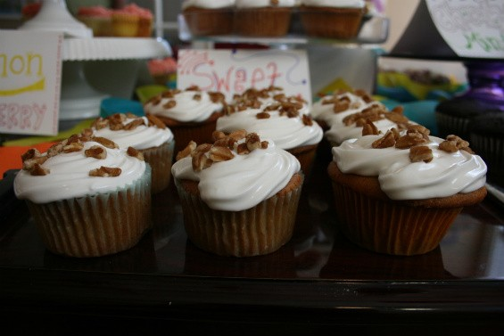 Sweet-potato treats from Farm Fresh Cupcakes. - CHRISSY WILMES
