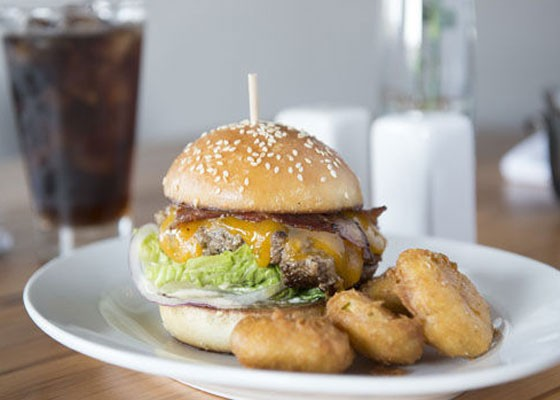 The ground brisket burger at Three Flags Tavern, our pick for the Best New Restaurant of 2014. | Corey Woodruff
