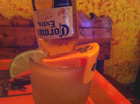 The Corona-branded beer shelf that thwarted our CervezaRita dreams. - LIZ MILLER
