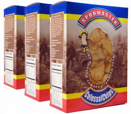 Presumably, if Edward and Juli Pilla got the munchies, they could dip into their other supply, their Spudmaster ColossalChips. - IMAGE VIA
