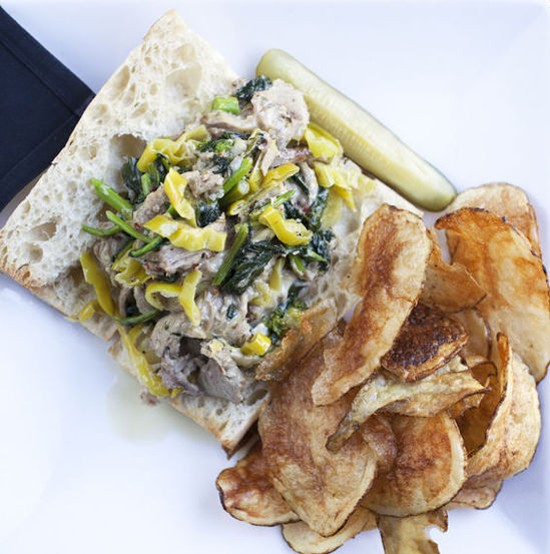 """The """"Porchetta Louie"""" at Dressel's, """"Best Use of the Worst Cheese"""" - JENNIFER SILVERBERG"""