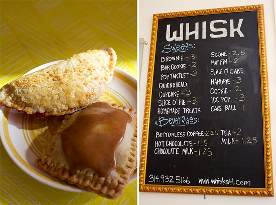 A cranberry hand pie and apple cinnamon pop tartlet; The menu at Whisk. - MABEL SUEN
