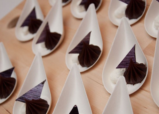 Lavender ganache and whipped lemon crème fraiche from Kakao Chocolate. | Micah Usher