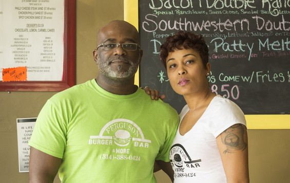 Husband-and-wife team Charles and Kizzie Davis, owners of Ferguson Burger Bar & More. | Mabel Suen