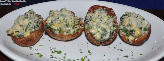 Artichoke-spinach potato skins at Three Kings. - TARA MAHADEVAN
