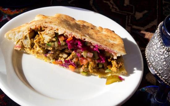 Chicken shawarma. - MABEL SUEN