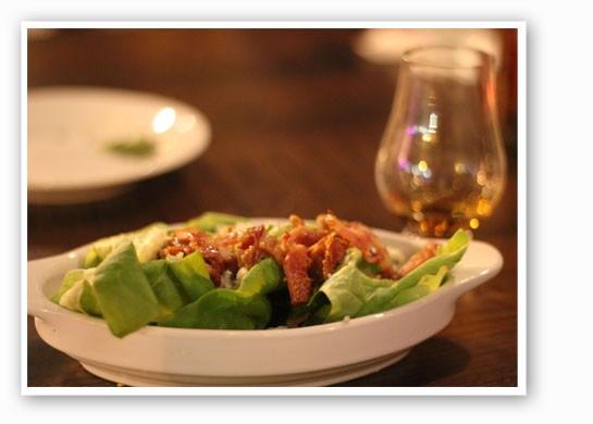 The salad featured a ri(1) vinaigrette. | Nancy Stiles
