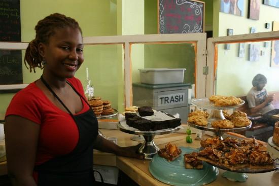 Bayoc with some of SweetArt's baked treats - CHRISSY WILMES