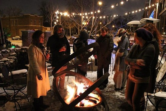 Even in cold weather, the patio at Sasha's on Shaw draws a crowd. - RFT PHOTO