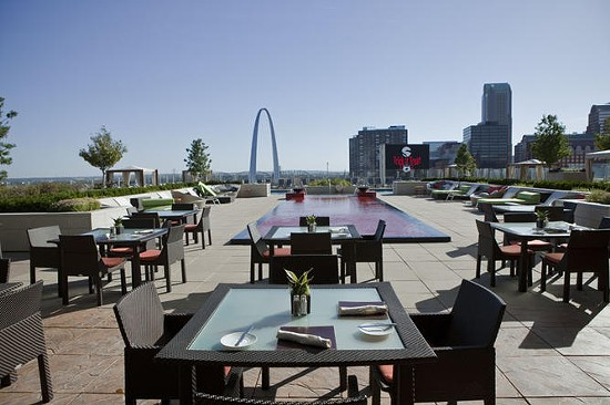 The stunning view from the patio at Cielo - LAURA MILLER