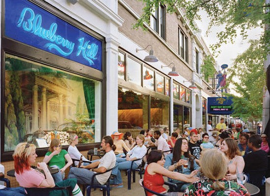 Outdoor seating at Blueberry Hill. - RFT PHOTO
