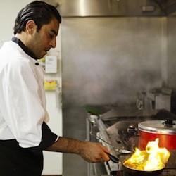 Wasem Hamed, owner of Kaslik Restaurant, in the kitchen of his previous restaurant, Layla - JENNIFER SILVERBERG