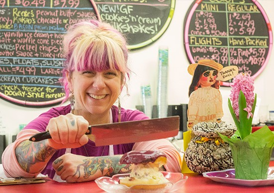 Owner Kerry Soraci will happily cut your sammich in half.