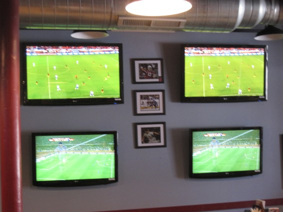 Too. Much. Action. at the Post Sports Bar & Grill - IAN FROEB