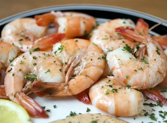 The peel & eat shrimp with the house-made New Orleans remoulade sauce at Riverbend Restaurant & Bar. - JENNIFER SILVERBERG