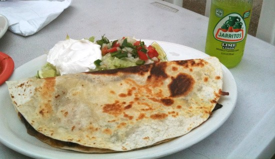 You won't find Tower Tacos' Quesadilla Azteca on the menu at Applebee's. - LIZ MILLER