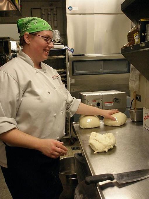 Harden, with bread dough, buzzing. - ROBIN WHEELER