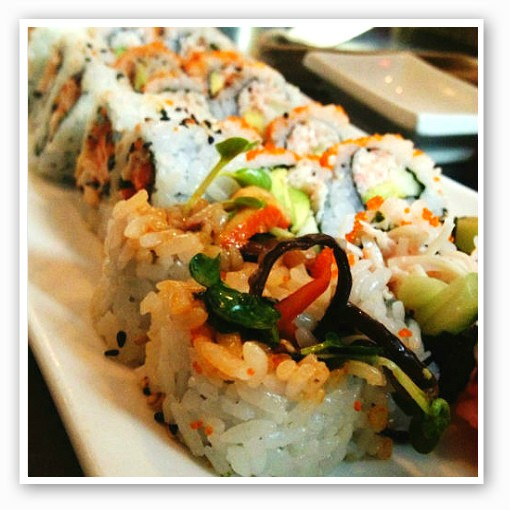 The spicy octopus and California rolls at Café Mochi. | Caillin Murray