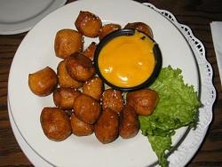 Joey B's pretzel bites with jalapeño cheese dipping sauce - IAN FROEB
