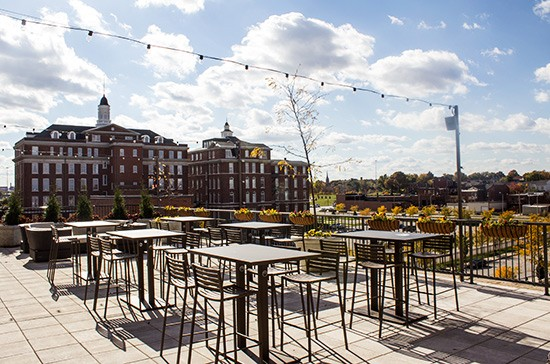 Element's rooftop patio.   Mabel Suen