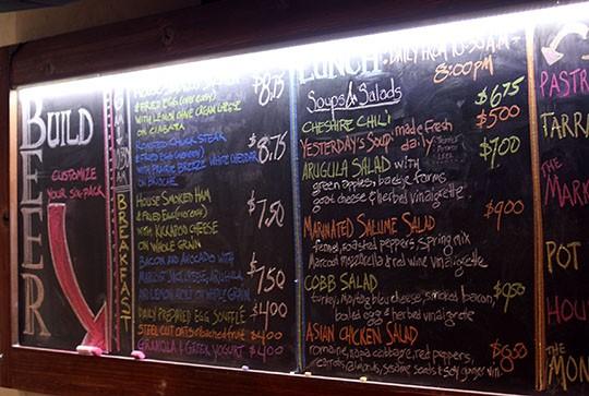 Part of the Market's menu. - KAITLIN STEINBERG