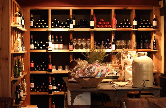 Wine alcove at the Market. - KAITLIN STEINBERG
