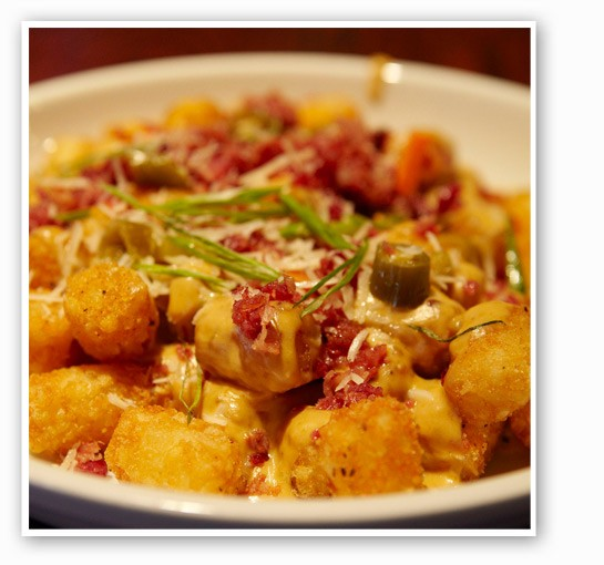 Loaded tots at Bar Louie. | Bar Louie